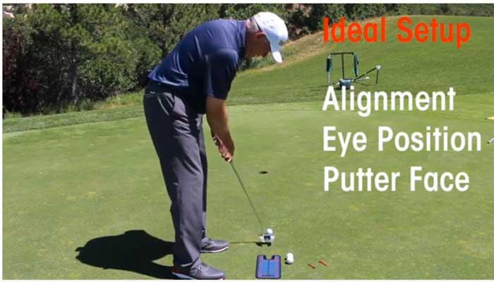 golf putting mirror alignment